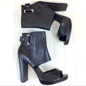 Nine West open toe cutout platform bootie heels